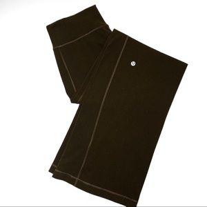 Lululemon Brown Wide Leg Flare Yoga Pants (6/8)